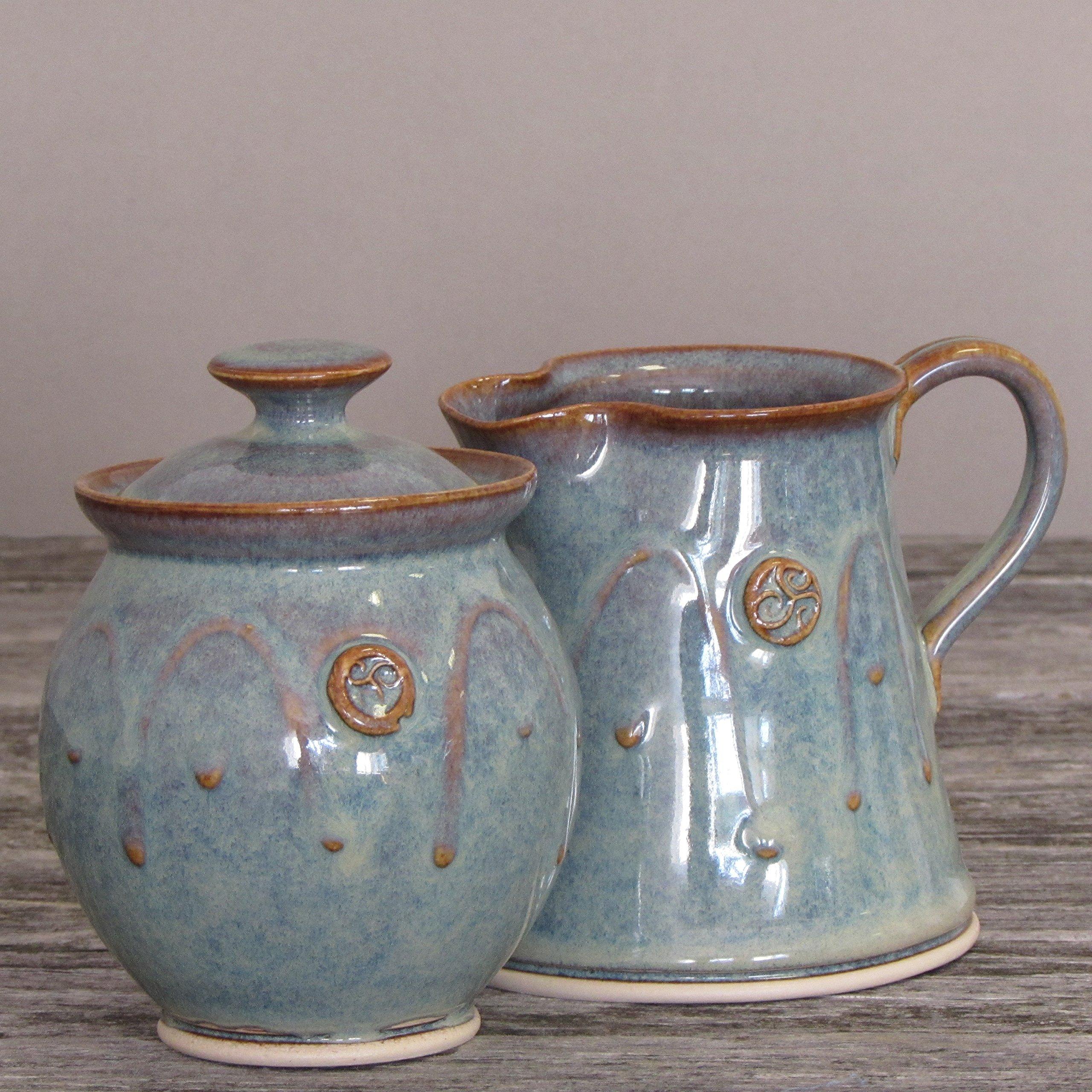 Handmade Irish Pottery Sugar and Creamer Set by Castle Arch Pottery Ireland (Image #3)