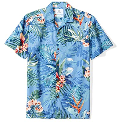 Brand - 28 Palms Men's Standard-fit 100% Cotton Tropical Hawaiian Shirt: Clothing