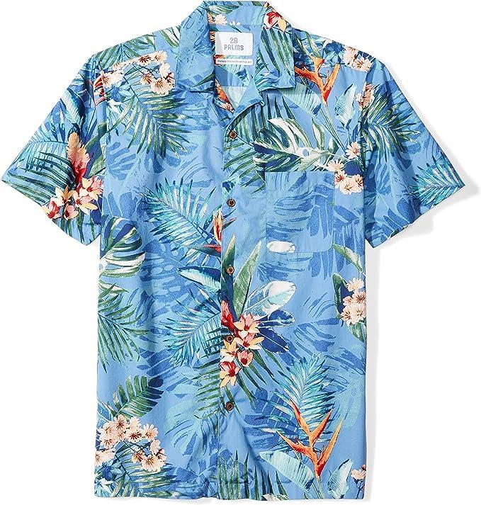 Mens Vintage Shirts – Casual, Dress, T-shirts, Polos Amazon Brand - 28 Palms Mens Standard-Fit 100% Cotton Hawaiian Shirt $20.00 AT vintagedancer.com