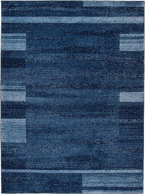 Carpeto Rugs Tapis Salon Bleu foncé 190 x 270 cm Moderne Bordures /Oslo  Collection