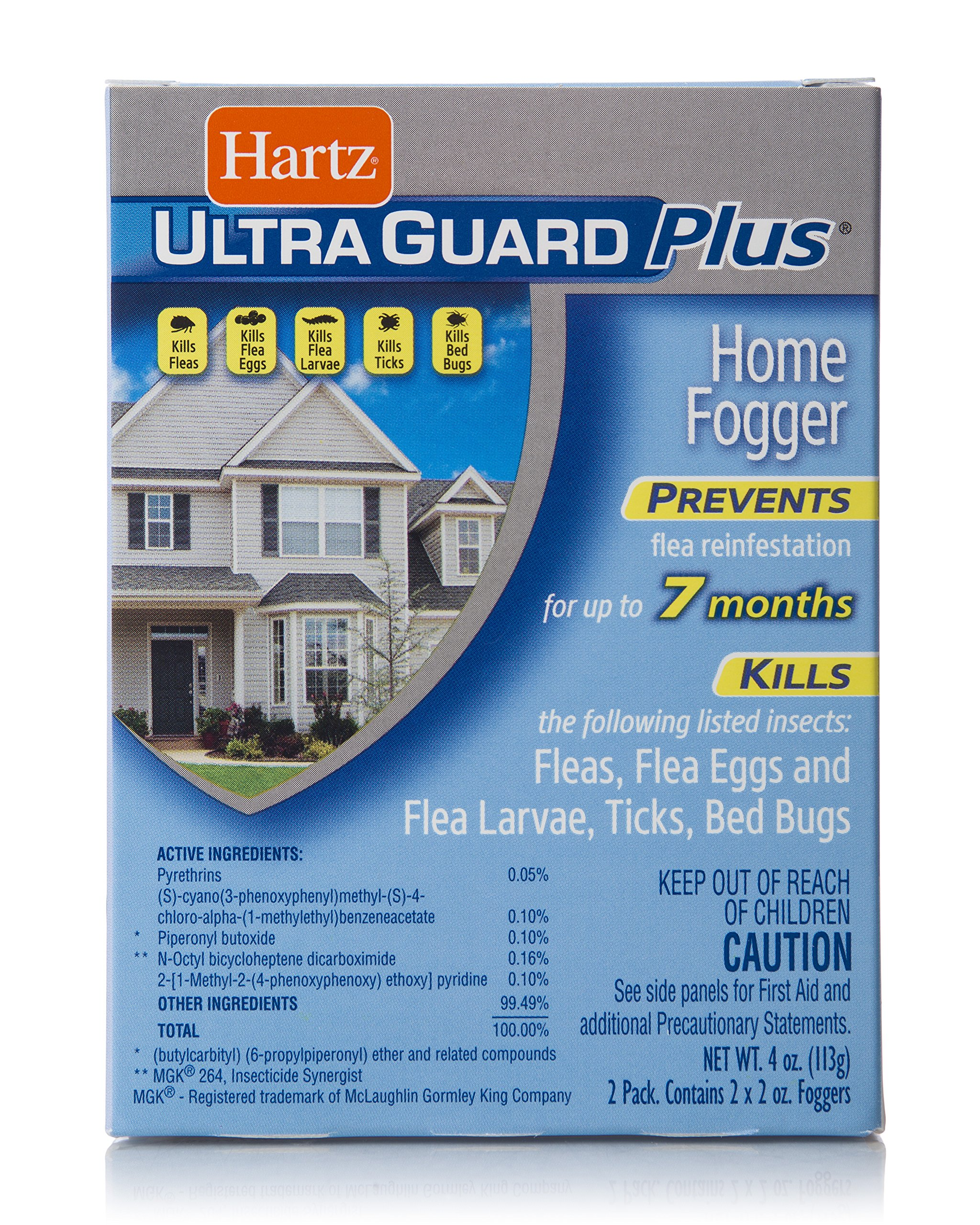 HARTZ UltraGuard Plus Flea, Tick, Bed Bug Home Fogger