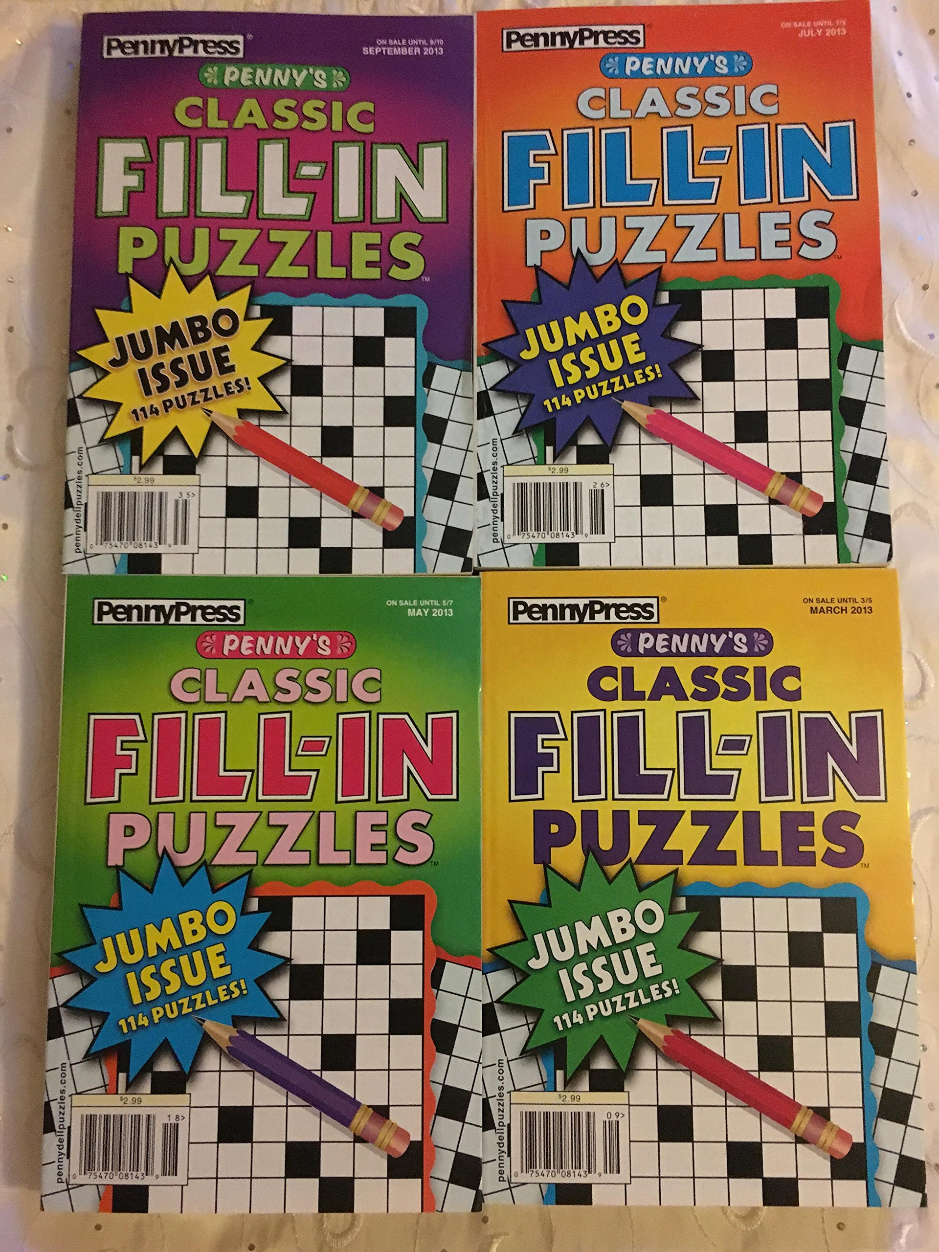 Download Lot of 4 Penny Press Classic Fill-In Puzzles Jumbo Books 2013 pdf