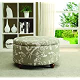 Amazoncom Coaster Storage Ottoman Coffee Table with Trays Brown