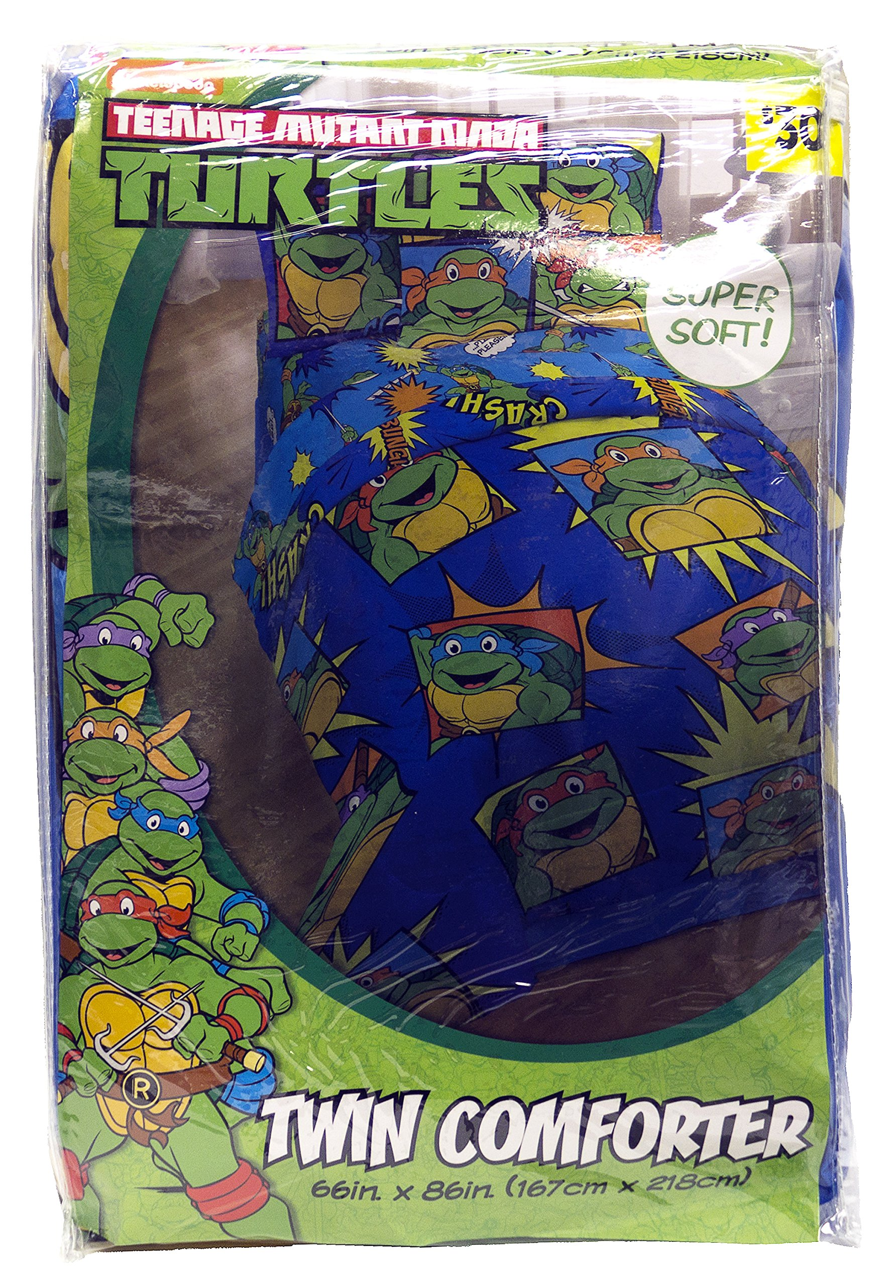 NIckelodeon Teenage Mutant Ninja Turtles Team Turtles Twin Comforter - Super Soft Kids Reversible Bedding features the Turtles - Fade Resistant Polyester Microfiber Fill (Official NIckelodeon Product) by Jay Franco (Image #4)