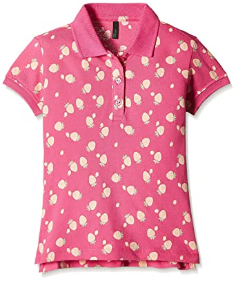 64452437 United Colors of Benetton Baby Girls' Polo Shirt (16P3089C0068I904_Pink_1Y)