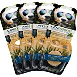 Woobamboo! Eco-Awesome Floss, Biodegradable Silk Floss in Plant-Based Packaging, 4 Pack