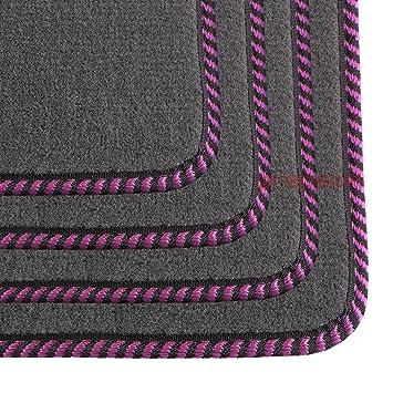 Business Class Grey Carpet Car Mats (Pink Twist) PSSBCGYH10PKT: Amazon.co.uk: Car & Motorbike