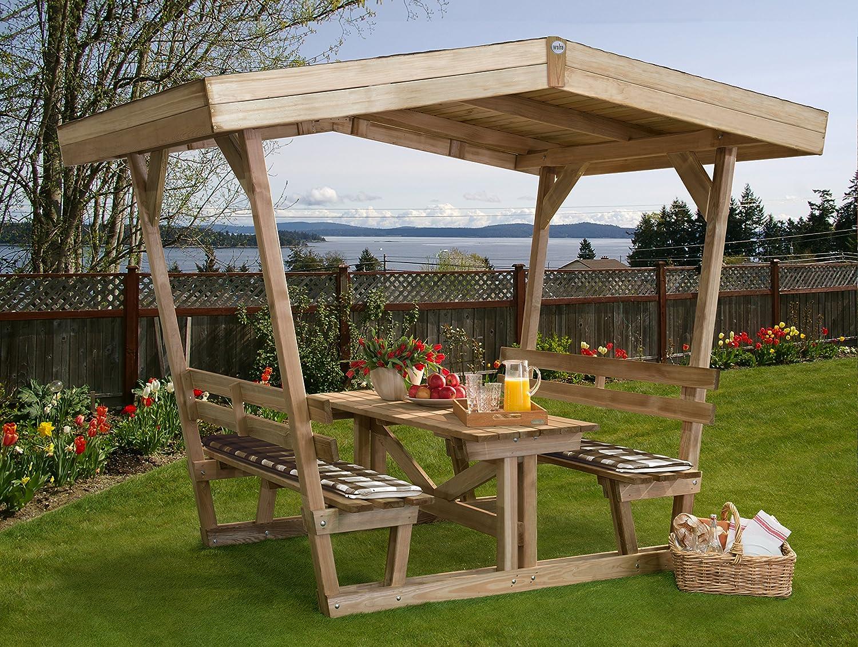 Weka 662 - Cenador con asiento: Amazon.es: Jardín
