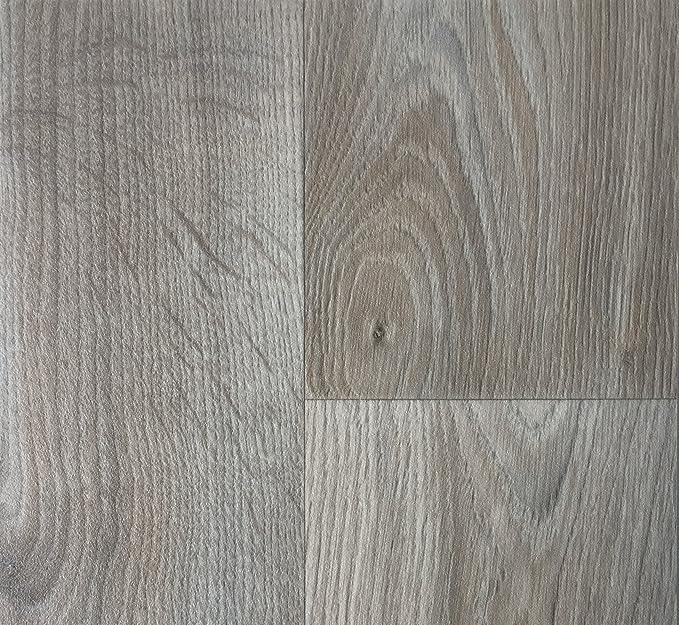 CV-Boden wird in ben/ötigter Gr/ö/ße als Meterware geliefert PVC Vinyl-Bodenbelag in gekalkter Holzoptik Eiche rutschhemmend PVC-Belag verf/ügbar in der Breite 2 m /& in der L/änge 5,0 m