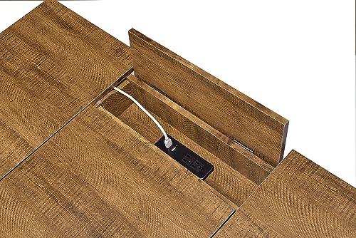 Coaster Home Furnishings Sheeran 4 Hidden Storages Rustic Amber Writing Desk - a good cheap modern office desk