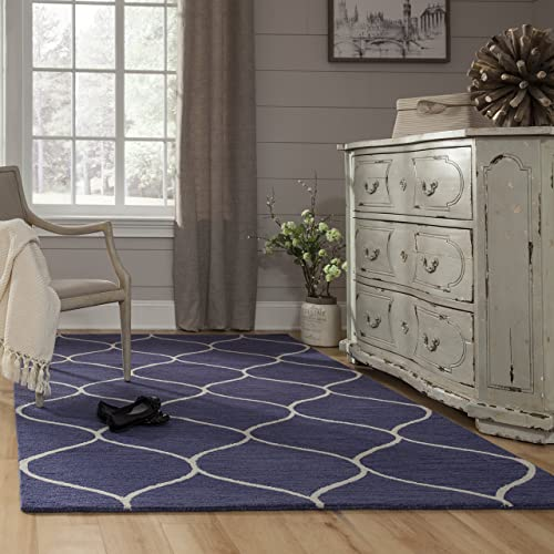 Momeni Rugs Newport Collection Area Rug, 5 0 x 8 0 , Blue