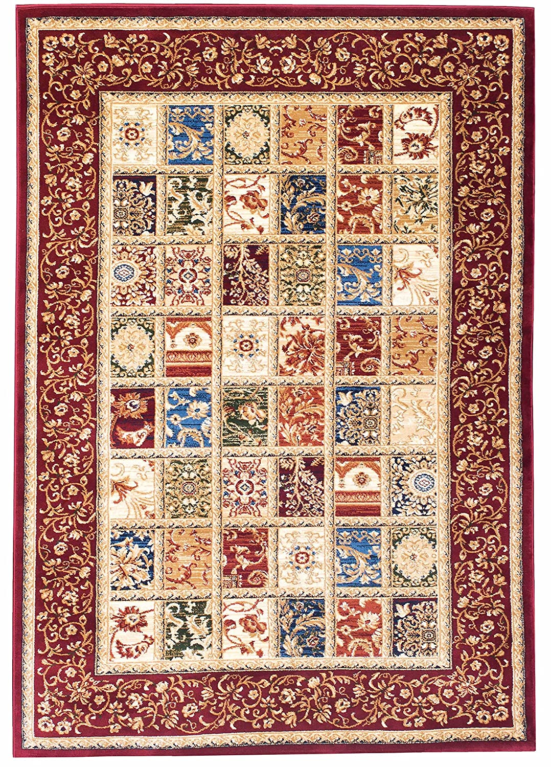 Kerman Fantasy Turkish Collection Red Area Rug 3x5 AG Home 04374A_BCV55_BUR-BUR 3x5
