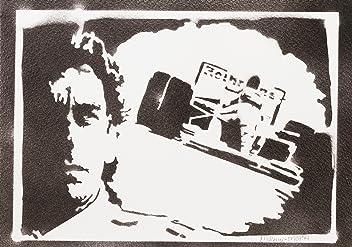 Poster F1 Ayrton Senna Handmade Graffiti Street Art - Artwork