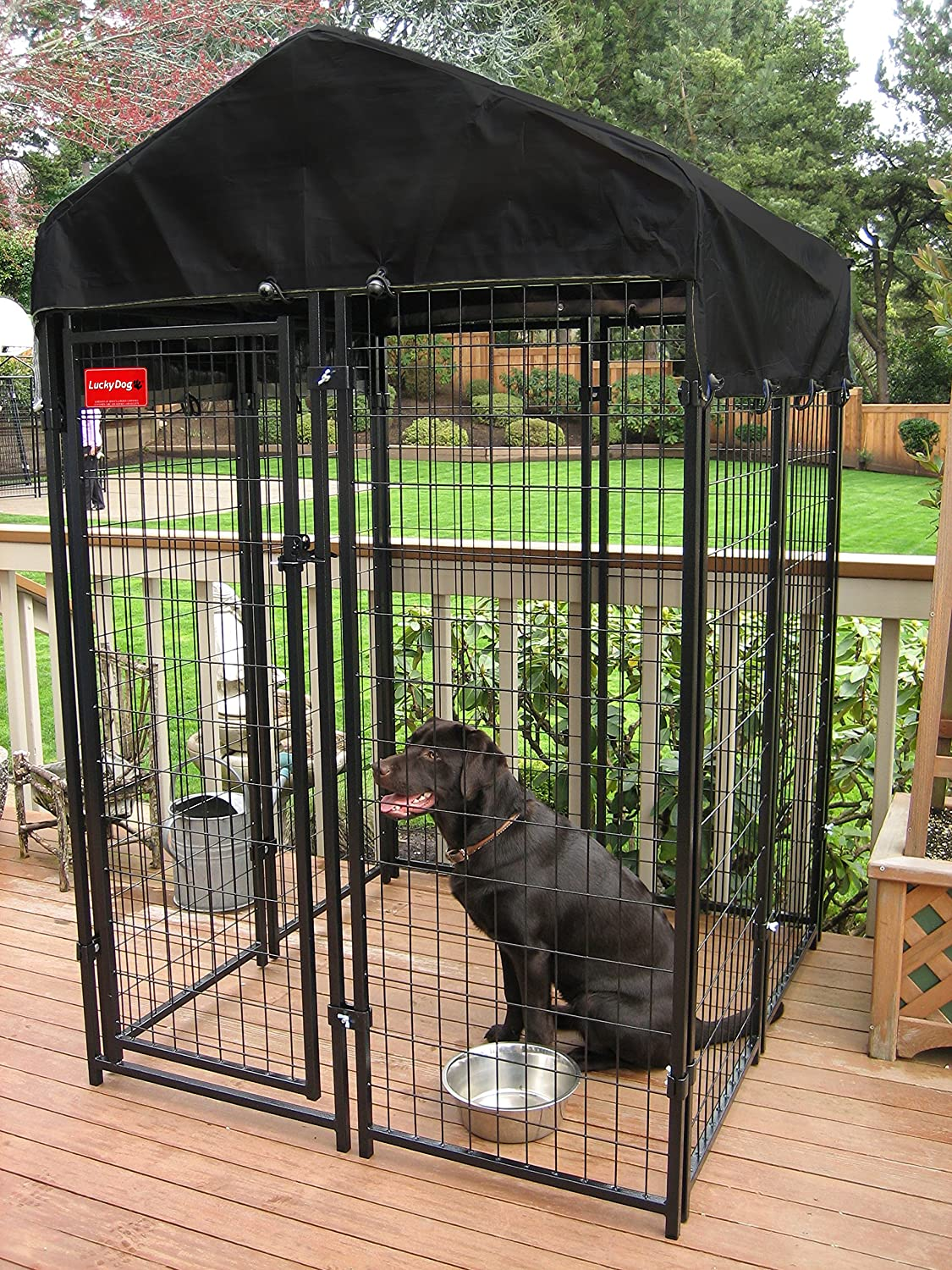 amazoncom heavy duty dog cage lucky dog outdoor pet playpen this pet cage is perfect for containing small dogs and animals