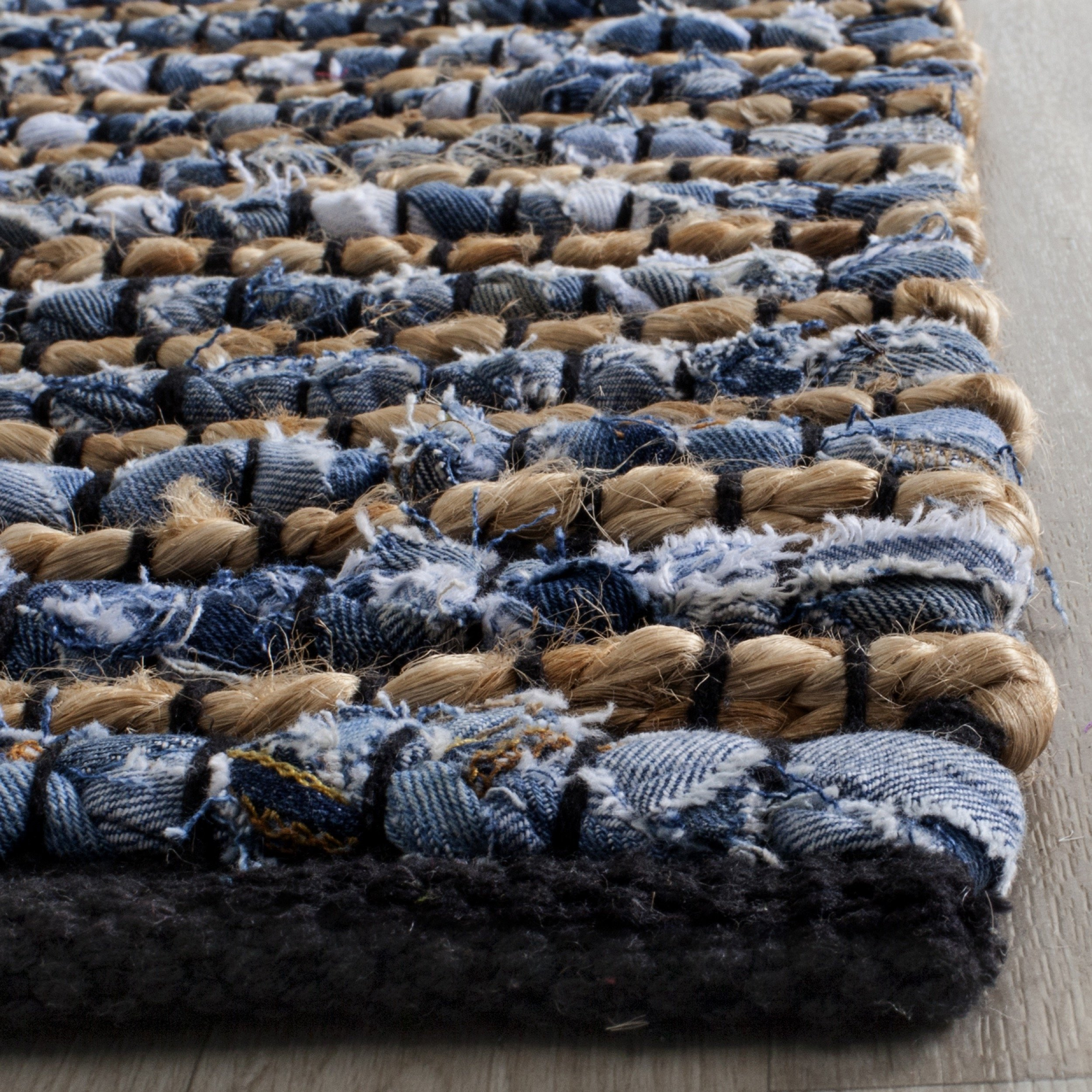 Safavieh Cape Cod Collection CAP365A Hand Woven Blue Jute Runner (2'3'' x 6') by Safavieh (Image #2)