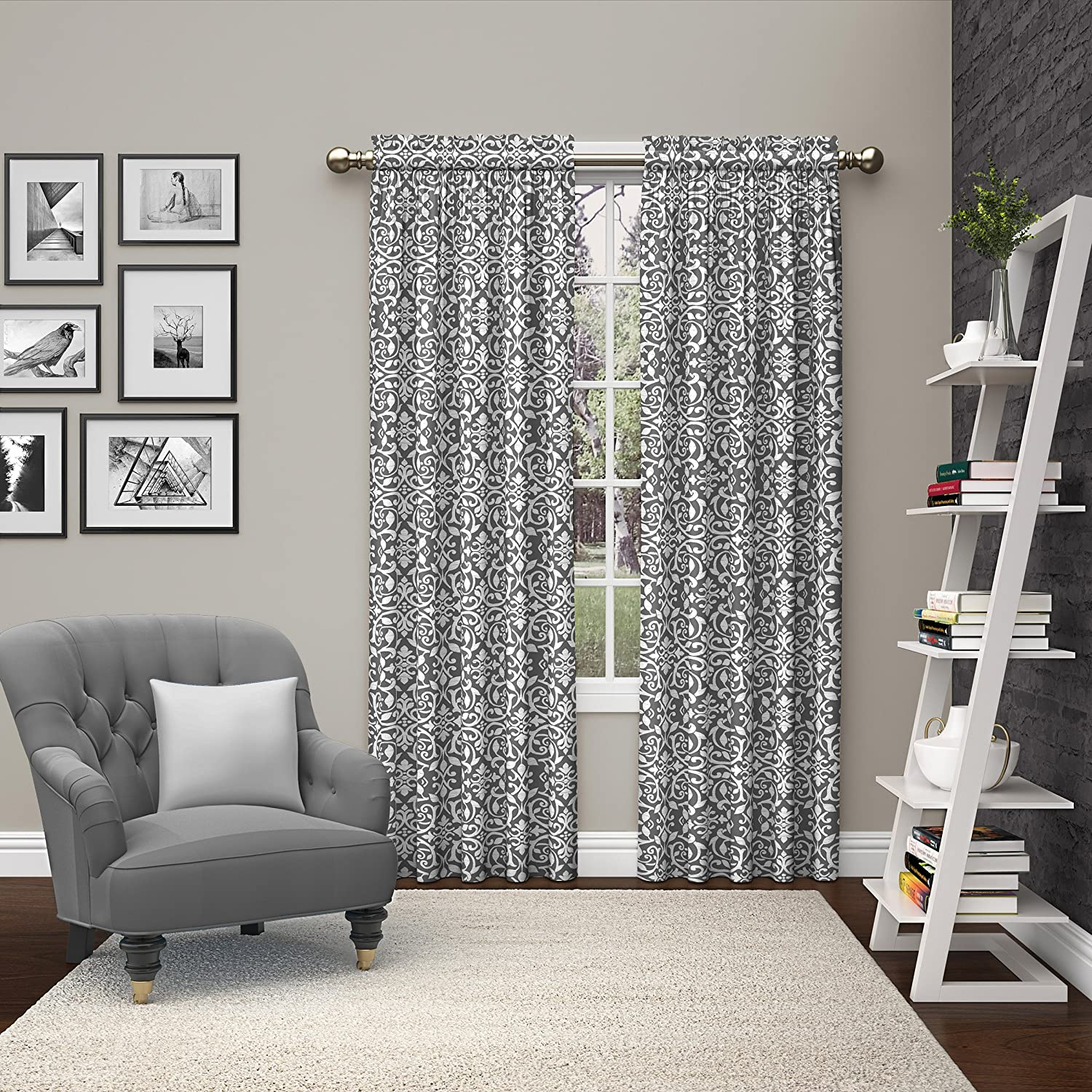 Pairs to Go Eclipse 15614056X063YEL Pinkney Window Curtains (2 Pack), 56 x 63, Yellow 56 x 63 Ellery Homestyles