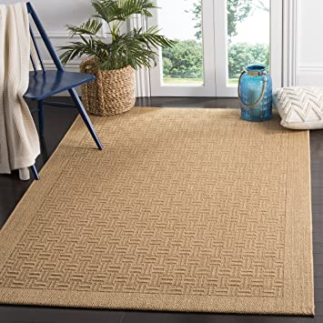 Amazon Com Safavieh Palm Beach Collection Pab359m Sisal Jute Area Rug 5 X 8 Maize Furniture Decor