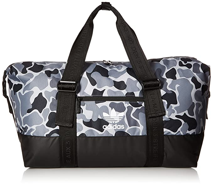 10058d86 Amazon.com: adidas Originals Weekender Duffel Bag, Aop Camo Grey ...