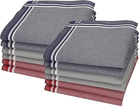 Betz 12 pañuelos para Hombres Leo 3 tamaño 40x40cm 100% algodón Color Dessin 01: Amazon.es: Hogar
