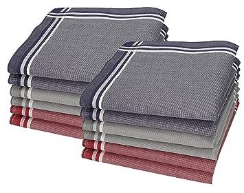 Betz 3er Pack Herren Stoff Taschentücher in Geschenkverpackung 100/% Baumwolle