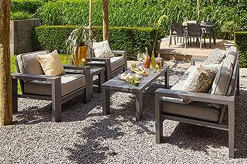 Uberlegen Hartman Loungeset Titan, Gartenlounge In Seal Grey, Balkonlounge Aus  Aluminium Alu, Gartenmöbel Set