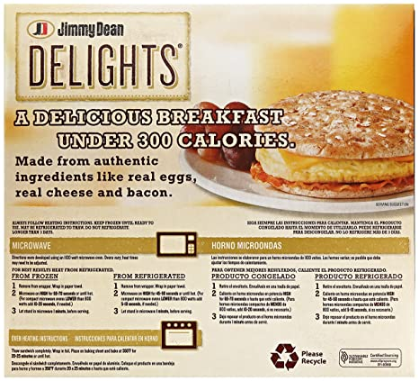 Jimmy Dean, Foods Flatbread Bacon Egg and Cheese, 12.8 oz ...