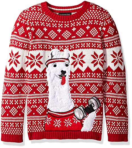 d05579f863fd19 Amazon.com  Blizzard Bay Boys  Llama Fitness Xmas Sweater  Clothing