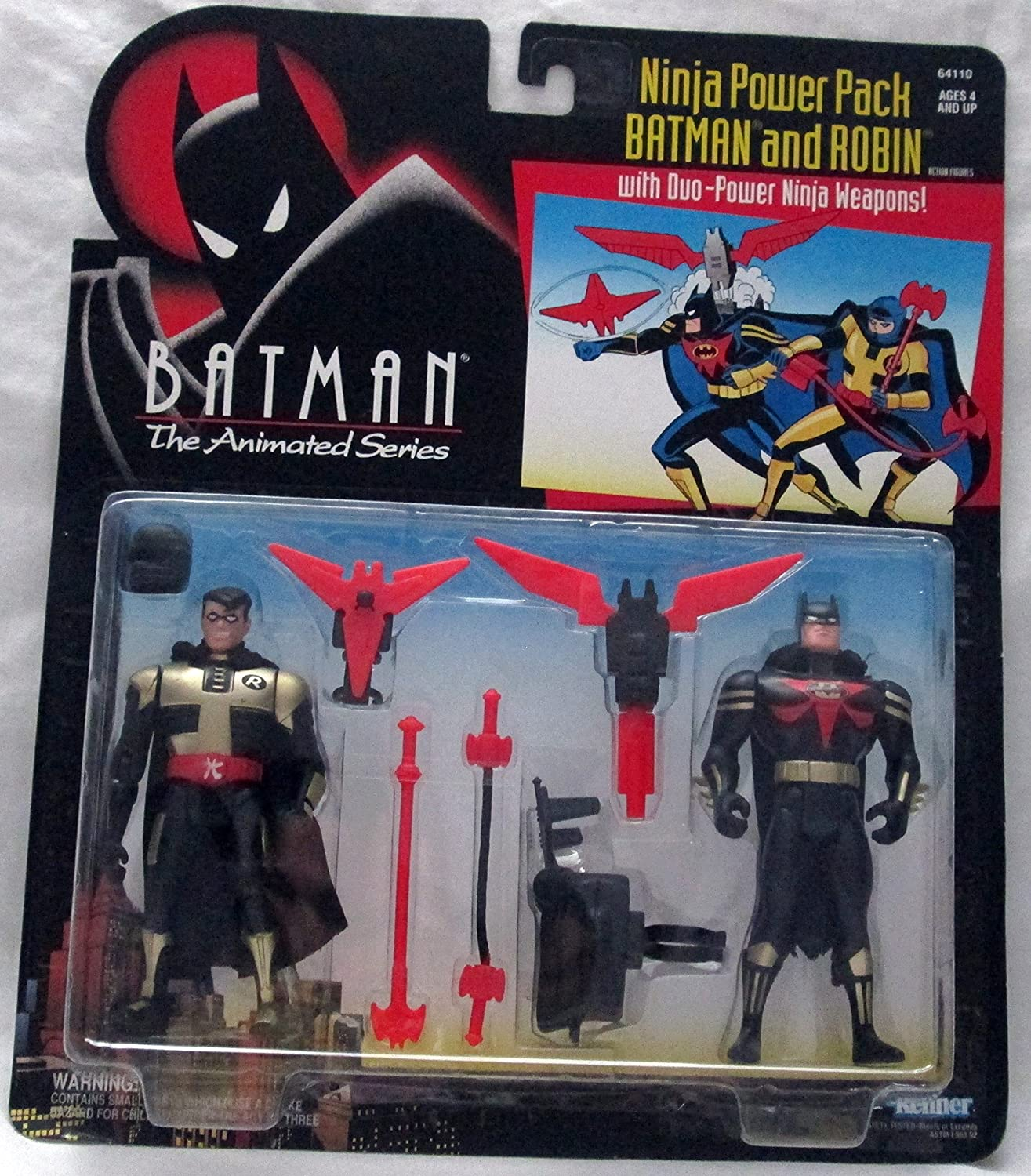 Batman the Animated Series Ninja Power Pack Batman and Robin Action Figures
