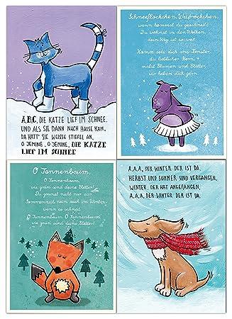 Abc Weihnachtskarten.Weihnachtskarten Set Baby Und Kind 8 Postkarten Amazon De Baby