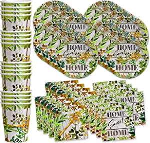 Birthday Galore Housewarming Home Sweet Home Party Supplies Set Plates Napkins Cups Tableware Kit for 16