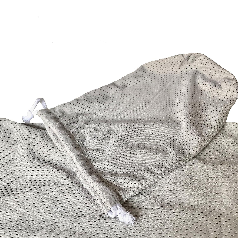 CETTICII Echarpe de portage bébé, blanche, porte bébé en coton très léger  pour un meilleur confort, ... c96faa3cfbd