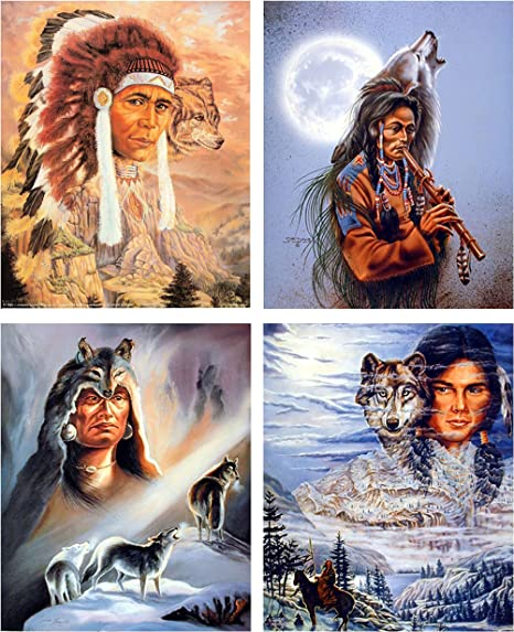 16x20 Indian Brave Native American Wall Decor Art Print Poster