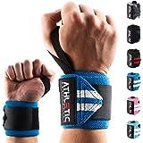 Handgelenkbandage [2er Set] in 45cm / 60cm Länge + Grundübungs Guide - Wrist Wraps fürs Krafttraining, Bodybuilding, Crossfit und Fitness - Handgelenkbandagen für Frauen und Männer geeignet - ATHLETIC AESTHETICS