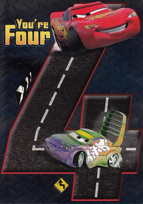 Tarjeta de cumpleaños para - Rayo McQueen Cars - de máquina ...