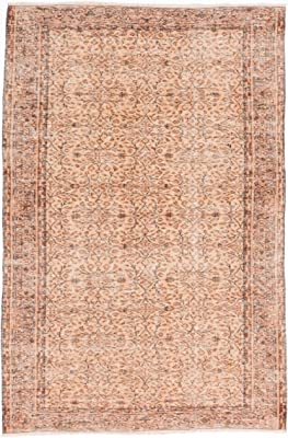 Ecarpetgallery Hand-knotted Keisari Vintage Ivory Traditional 5' x 7' 100% Wool kitchen dining room area rug
