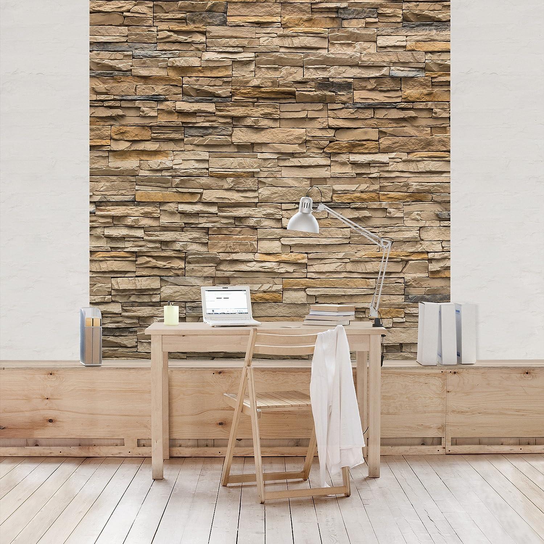 Vliestapete steinoptik küche  Fototapete | Steintapete Andalusia Stonewall - Vliestapete Quadrat ...
