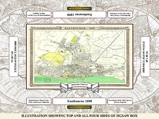 MAP OF EASTBOURNE 1898 ROYAL ATLAS