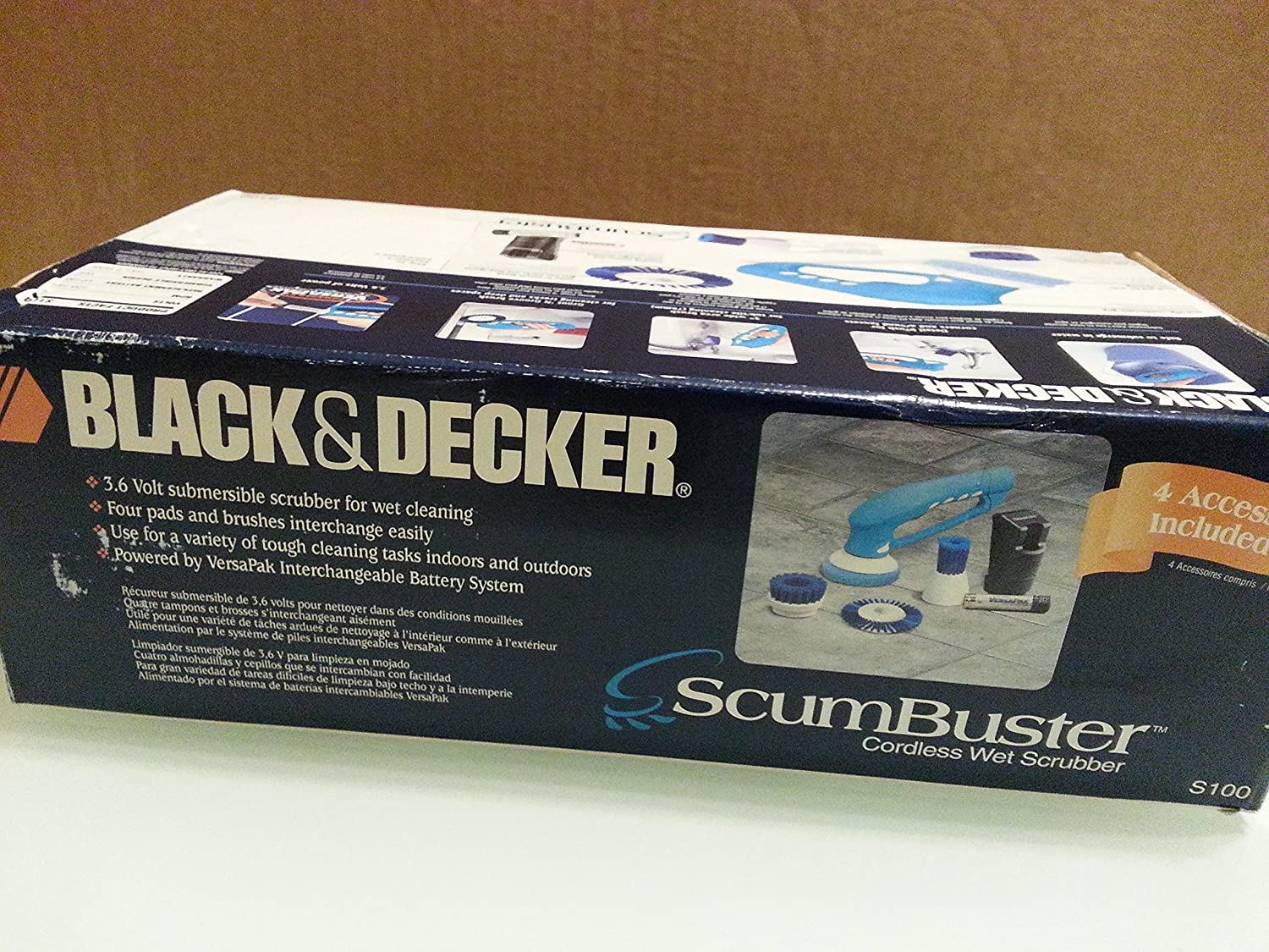 Amazon.com: Black & Decker, ScumBuster Cordless Wet Scrubber, Model S100: Kitchen & Dining