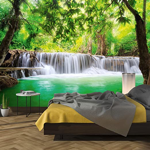 Fototapete Vlies Tapeten Natur Landschaft Asien Wasserfall in Thailand Kaskade
