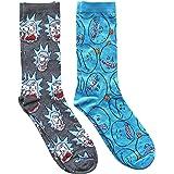 Rick and Morty Mr. Meeseek's Pattern Men's Crew Socks 2 Pair Pack Shoe Size 6-12