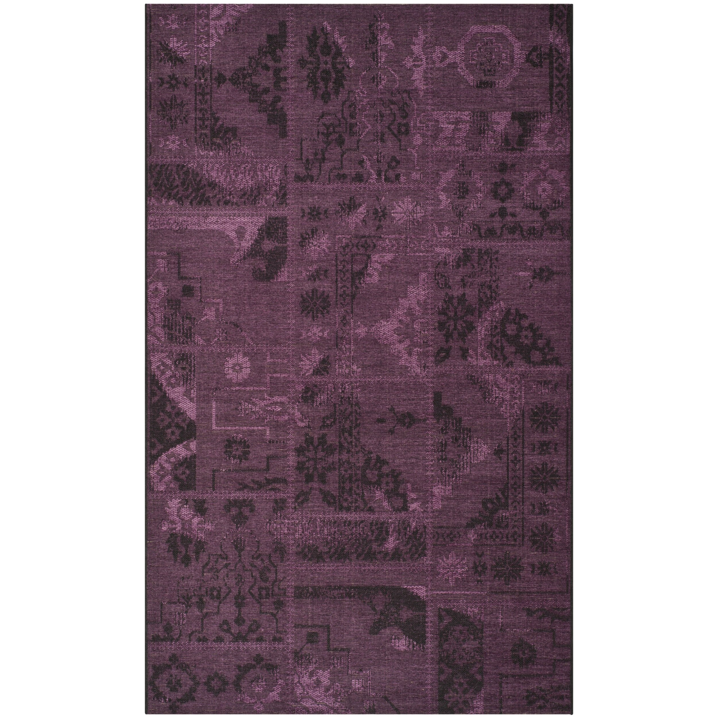 Safavieh Palazzo Collection PAL121-56C7 Black and Purple Area Rug (5' x 8') by Safavieh