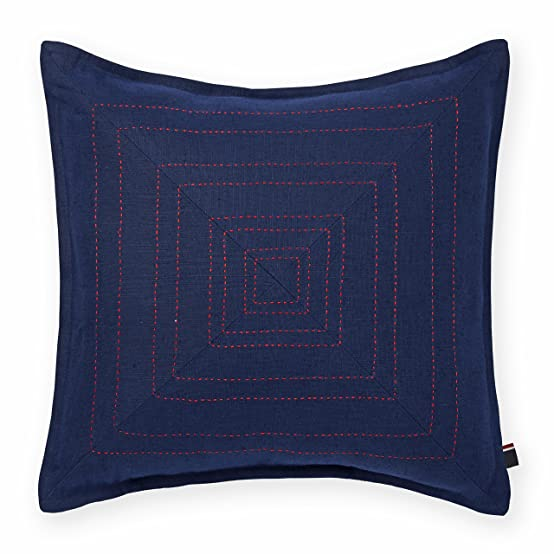Amazon Tommy Hilfiger Pick Stitched Decorative Pillow Navy Gorgeous Tommy Hilfiger Decorative Pillow Coussin Almohada