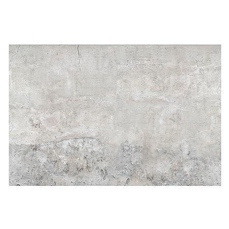 Vliestapete – Beton – Shabby-Stil, einfarbige Betonwand – breite Fototapete  für Schlafzimmer oder Wohnzimmer (255 x 384 cm)