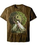 The Mountain Unisex-Adult Yin Yang Tree Short Sleeve T-Shirt