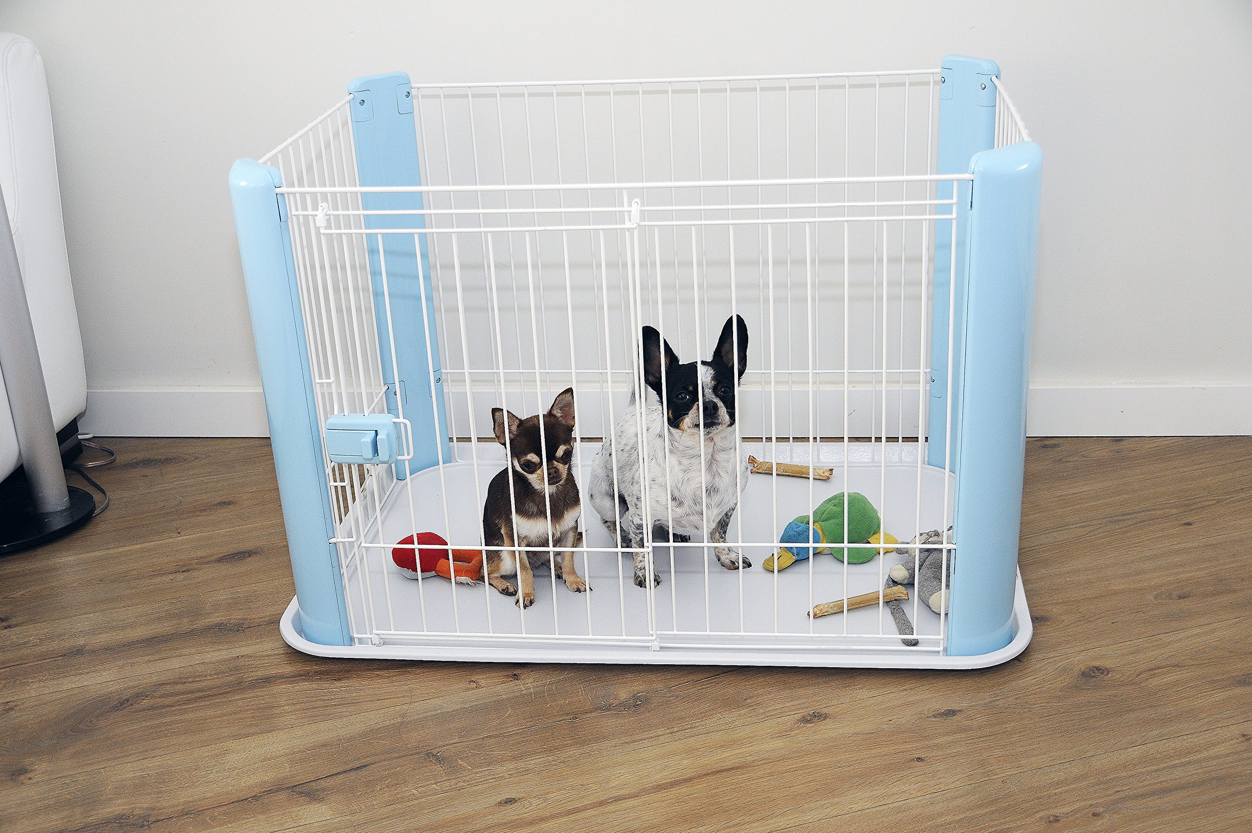 Iris Ohyama Pet Playpen CLS-960, Blue