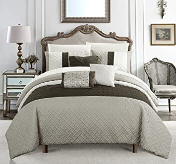 Amazoncom Chic Home Osnat 10 Piece Comforter Set Color Block