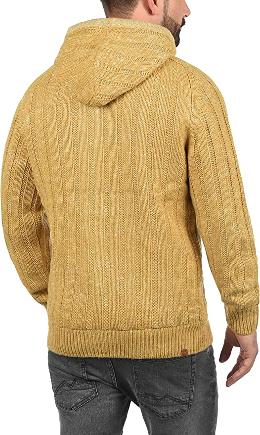 Jumpers, Cardigans & Sweatshirts BLEND Galvan Mens Cardigan Chunky Knit Jacket With Hood With Hood