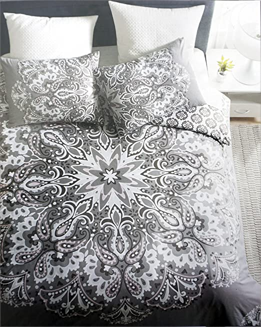 Artisan NY Bedding 100/% Cotton King Size Deep Pockets Blue White Grey Stripes