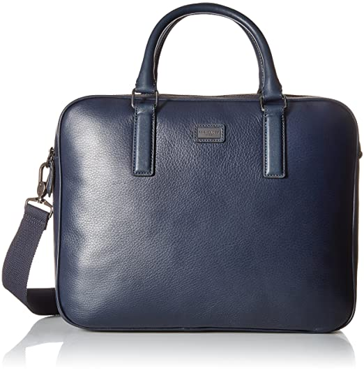 Ted Baker Mens Caracal Leather Document Bag Briefcase - Blue -  Amazon.co.uk   Clothing 1e88e4c083f89