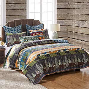 Greenland Home Black Bear Lodge Bonus Set, 5-Piece King, King/Cal King